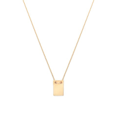 Note Necklace | Gold