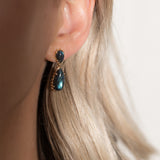 Leah Alexandra labradorite statement earrings Damas Earrings