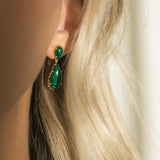 leah alexandra malachite statement earrings damas earrings