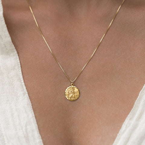 Leah Alexandra St Christopher Pendant gold necklace