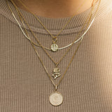 leah alexandra gold necklace layers