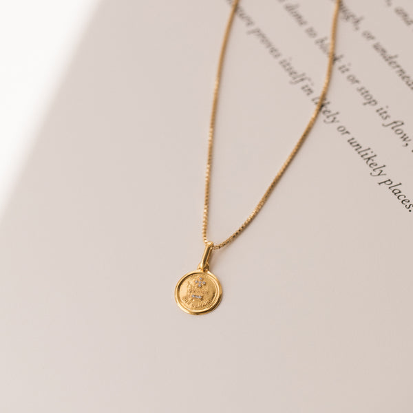 Leah Alexandra parisian jewelry antique inspired love token necklace qu'hier que demain