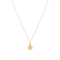 Seville Cross Coin Necklace | Gold