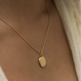Leah Alexandra gold fill antique oval locket
