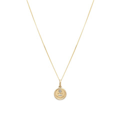 Love Token Necklace Round | Diamond