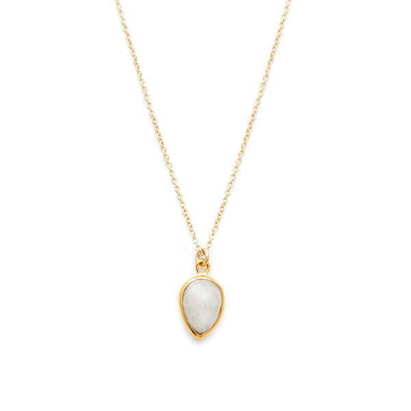 leah alexandra gold moonstone necklace