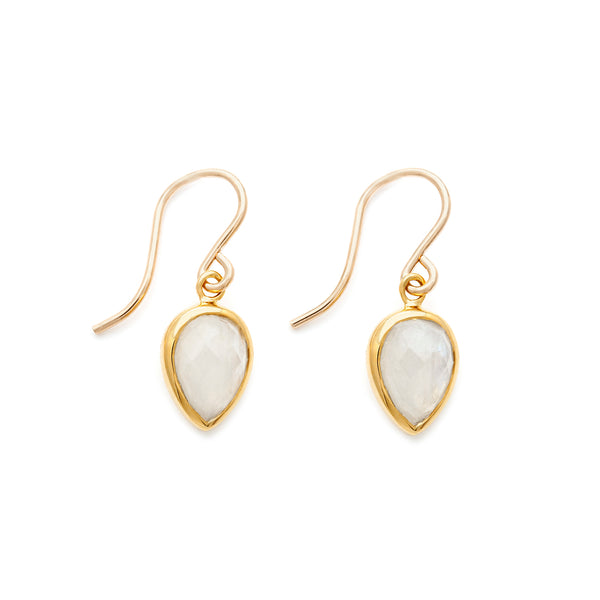 leah alexandra gold moonstone hook earrings