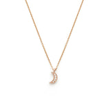 luna rosegold necklace, cresent moon necklace rosegold