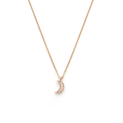 Luna Crescent Moon Necklace | Rosegold
