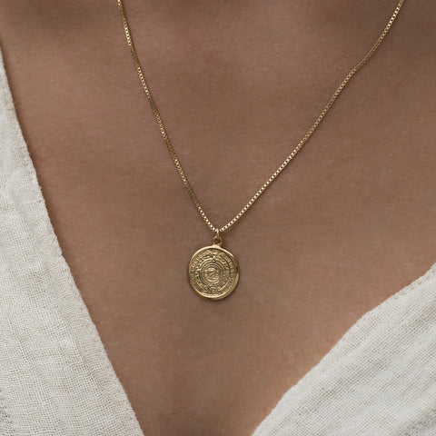 Mayan Necklace | 14k Gold