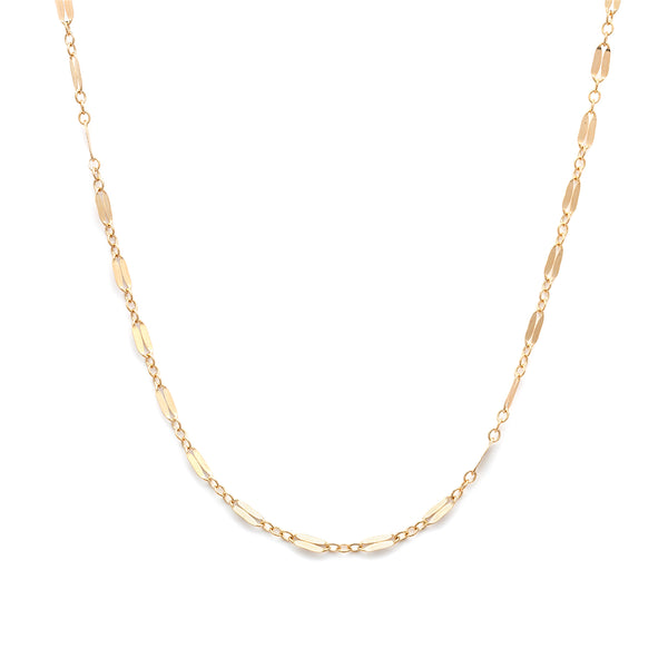 leah alexandra mara chain gold filled layering chain