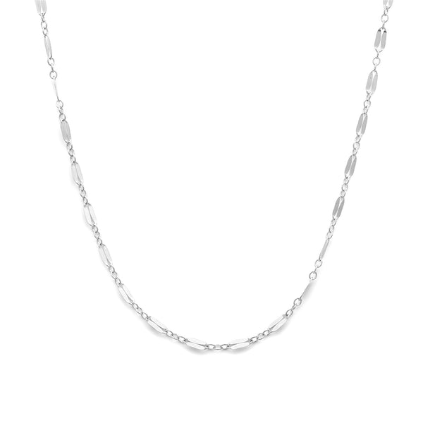 leah alexandra silver layering chain mara chain necklace