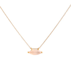 Marquis Necklace | Pink Chalcedony