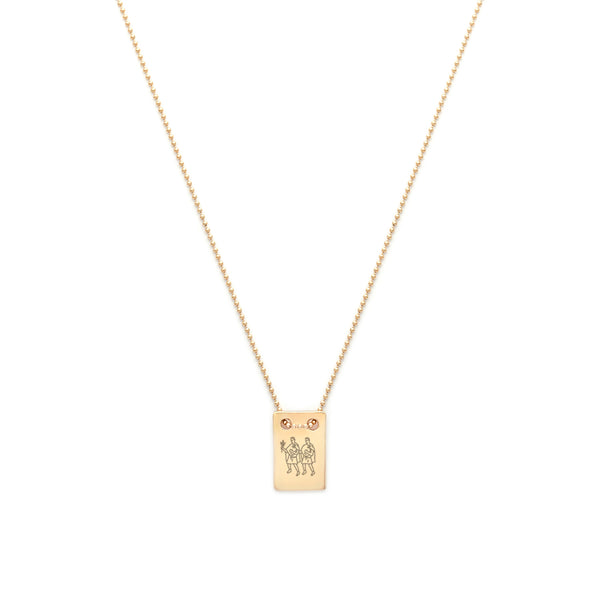 Zodiac Note Necklace | Gold