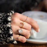 princess diana inspired gold moonstone ring