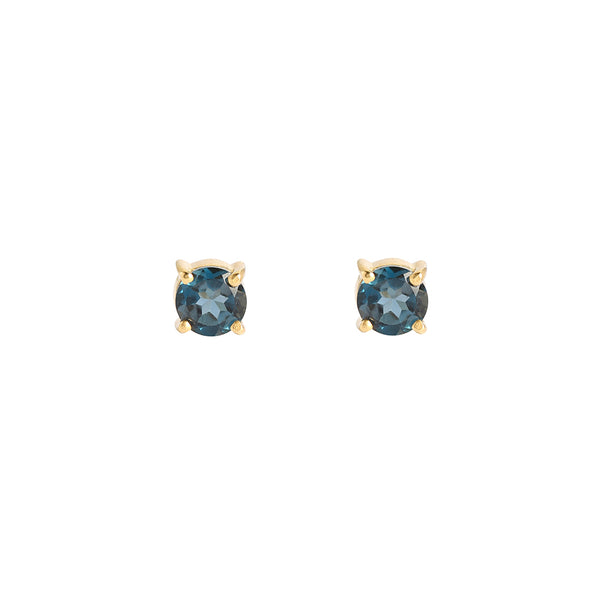 London Blue Topaz Petite Prong Studs