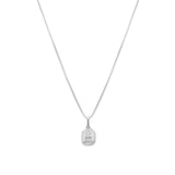 Love Token Necklace Square | Silver