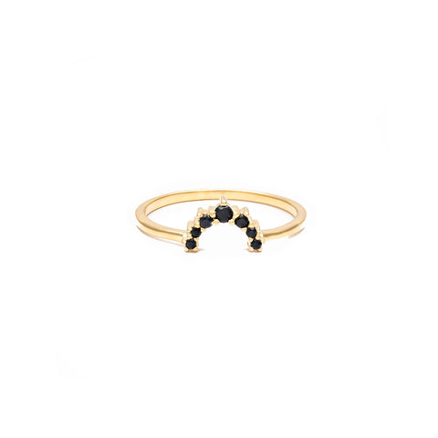 Rainbow Black Gold Ring