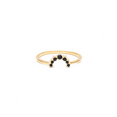 Rainbow Ring | Black Garnet