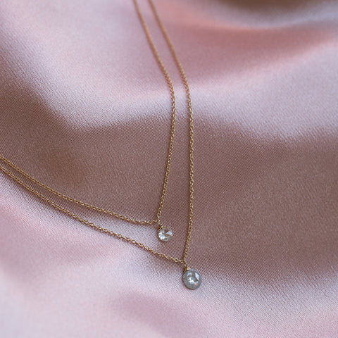 Rosecut Diamond Necklace in 14K Gold