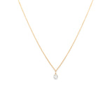 Petite Rosecut Diamond Necklace in 14K Gold