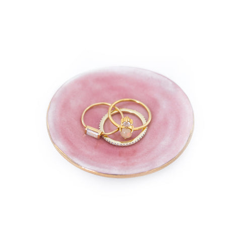 Sunrise Blush Ring Dish