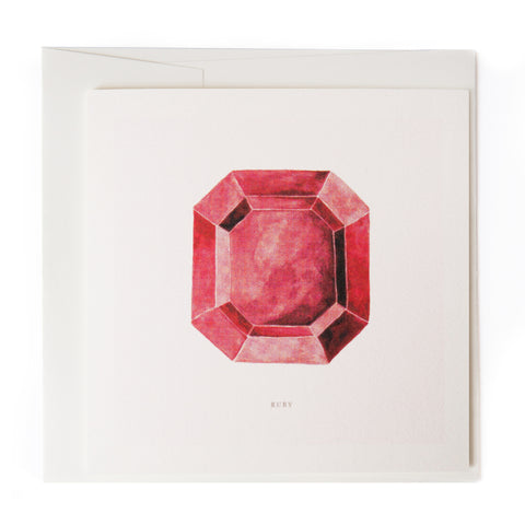 Watercolor Gem Card: Ruby