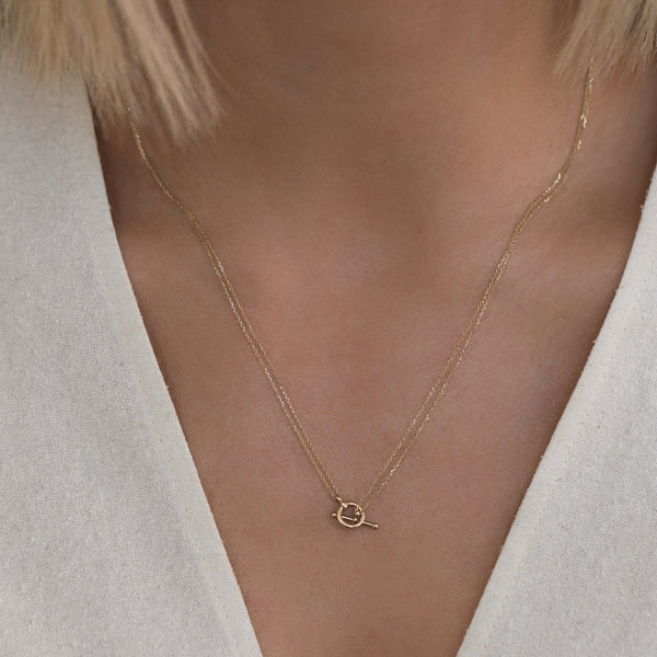 14K Gold Silken Toggle Necklace