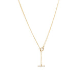 14K Silken Toggle Gold Necklace