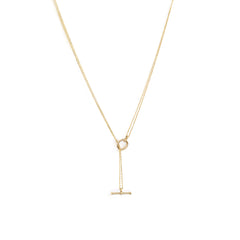 Silken Toggle Necklace | Pearl