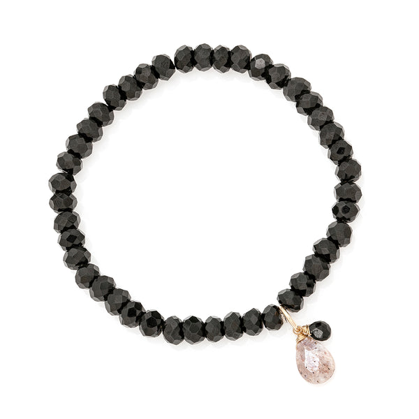 Social Black and Blush Bracelet
