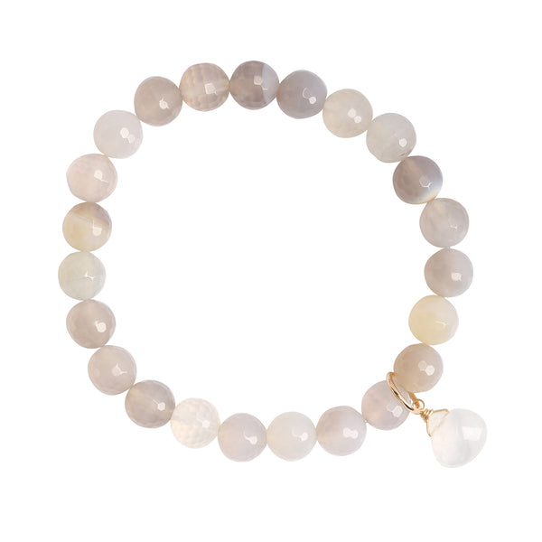 leah alexandra beaded gemstone brecelet moonstone