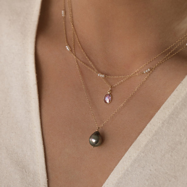 South Sea Tahitian Pearl Necklace in 14K Gold
