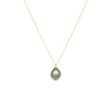 14K Gold Tahitian Pearl South Sea Necklace