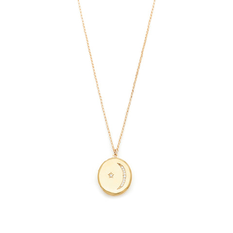 Gold locket, Star, Moon, Jewelry on white background, Necklace on White background, CZ