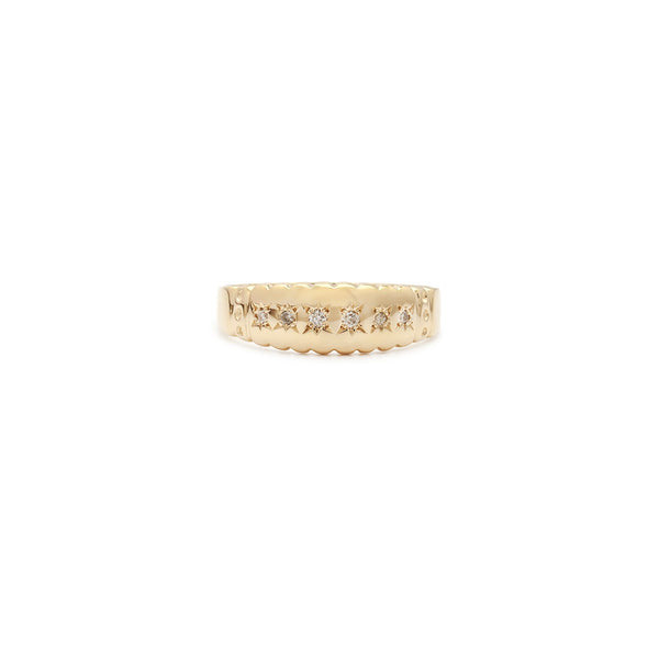 Stellar Band Ring | Diamond