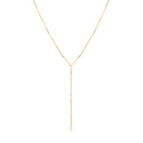Strand Lariat Necklace | Pearl