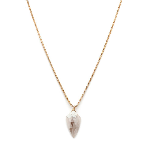 leah alexandra champagne moonstone gold necklace