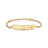 Gold Signature ID Chain Bracelet