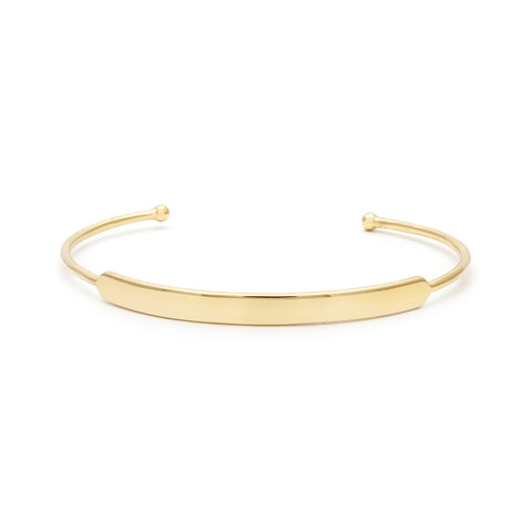 Gold nameplate signature cuff