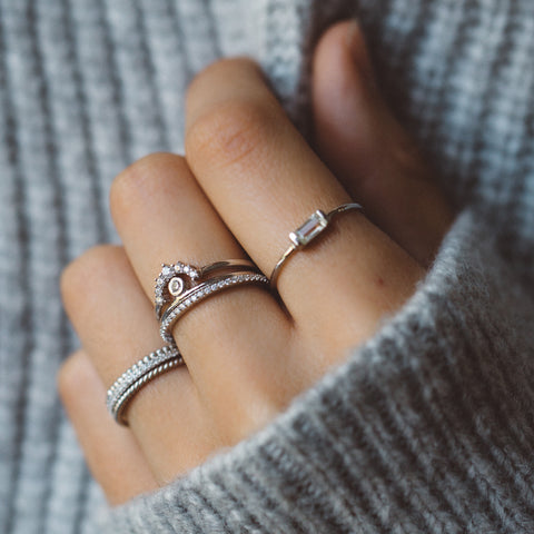 Twist Band Ring | Silver