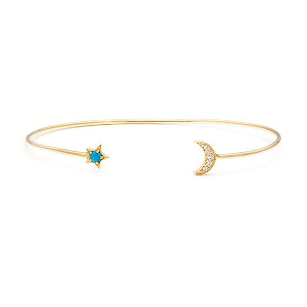 Star Moon Cuff | Turquoise