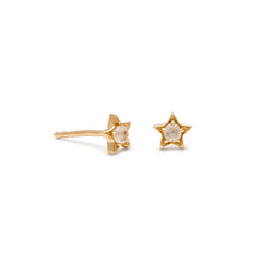 Star Moonstone Studs | Gold
