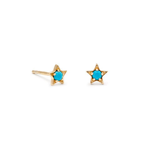 Star Turquoise Studs