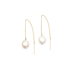Threader Earrings | Pearl