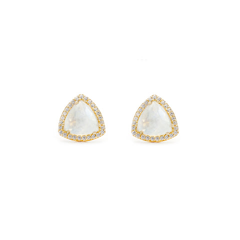 Trielle Studs | Moonstone
