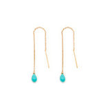 leah alexandra turquoise gold threader earrings