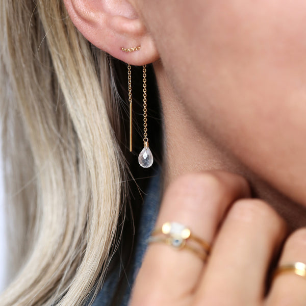leah alexandra moonstone chain threader earrings