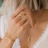 Leah Alexandra gold dainty stacking ring