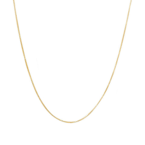 Baby Box Chain Necklace | 10k Gold